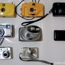Cámara de fotos: LOTE DE 12 CAMARAS FOTOGRAFICAS 3 DIGITALES CANON , OPCIO Y OLIMPUS Y 5 DE CARRETE ANTIGUAS DE KODAK. Lote 161851342
