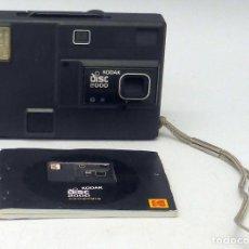Cámara de fotos: CÁMARA FOTOS COMPACTA KODAK DISC 2000 CON INSTRUCCIONES Y FUNDA AÑOS 80. Lote 112893727