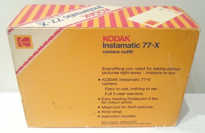 Cámara de fotos: KODAK INSTAMATIC 77-X 77X MADE IN ENGLAND - Foto 3 - 116734775