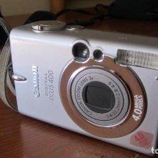 Cámara de fotos: CAMARA FOTOGRAFICA DIGITAL CANON IXUS 400 -NO FUNCIONA-. Lote 134080230