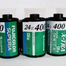 Cámara de fotos: LOTE 3 CARRETES: FUJICOLOR SUPERIA 400 - 35MM, PELÍCULA CADUCADA, LOMOGRAPHY, C-41 -. Lote 139806798