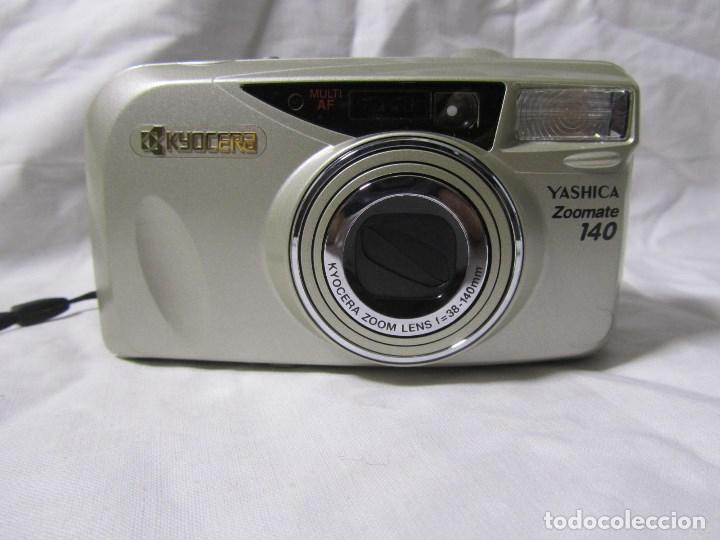Cámara de fotos: Máquina fotográfica Yashica Zoomate Camera 140 Kyocera. Funda original - Foto 3 - 145287162