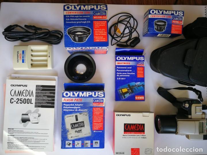OLYMPUS CAMEDIA C-2500L CON MUCHOS ACCESORIOS (Cámaras Fotográficas - Panorámicas y Compactas)
