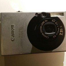Cámara de fotos: CAMARA DE FOTO Y VIDEO DIGITAL CANON IXUS 70 - FUNCIONANDO CON FUNDA. Lote 152812874