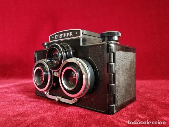 Cámara de fotos: MITICA CAMARA FOTOS ESTEREOSCOPICA RUSA CNYTHNK SPUTNIK Stereo 120 Film Camera. Ca. 1960 OPORTUNIDAD - Foto 9 - 155276374