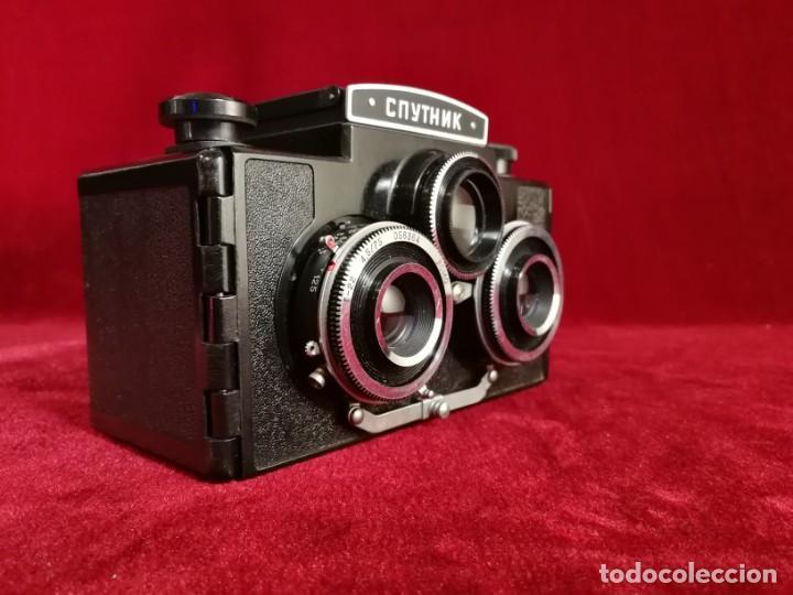 Cámara de fotos: MITICA CAMARA FOTOS ESTEREOSCOPICA RUSA CNYTHNK SPUTNIK Stereo 120 Film Camera. Ca. 1960 OPORTUNIDAD - Foto 12 - 155276374