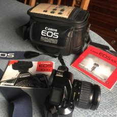 Cámara de fotos: CÁMARA DE FOTOS CANON EOS-1000, RÉFLEX, FLASH, MUY POCO USO. Lote 155360058