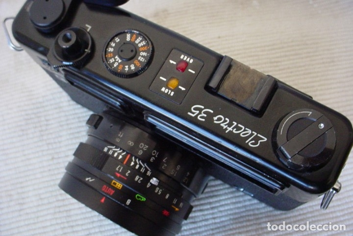 Cámara de fotos: Yashica Electro 35 GT con adaptador y pila nueva - Foto 12 - 156597386