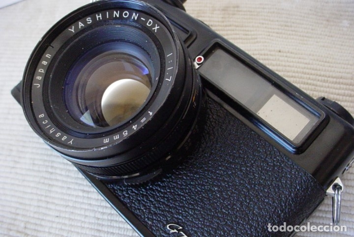 Cámara de fotos: Yashica Electro 35 GT con adaptador y pila nueva - Foto 2 - 156597386