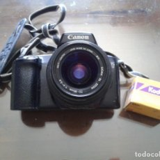 Cámara de fotos: IMPRESIONANTE CAMARA CANON EOS ,1000F,NO DIGITAL ,AÑOS 90 FUNCIONANDO. Lote 165546614