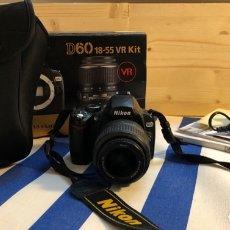 Cámara de fotos: NIKON DIGITAL REFLEX D60 + OBJETIVO 18-55 MM + FUNDA. Lote 172732162