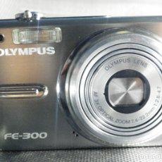 Cámara de fotos: CAMARA DIGITAL COMPACTA OLYMPUS FE-300 EXCELENTE CARGADOR UNIVERSAL MAS 1 GIGA. Lote 174107459