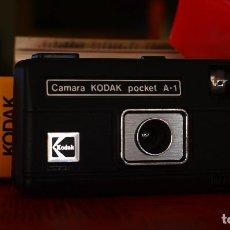 Cámara de fotos: CÁMARA KODAK POCKET A-1 CON CAJA Y MANUAL ORIGINALES. Lote 188808382