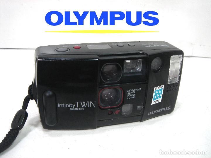 OLYMPUS INFINITY TWIN - CAMARA COMPACTA 35MM JAPAN 1988 - FOTOGRAFICA 35 M (Cámaras Fotográficas - Panorámicas y Compactas)