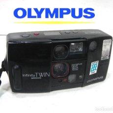 Cámara de fotos: OLYMPUS INFINITY TWIN - CAMARA COMPACTA 35MM JAPAN 1988 - FOTOGRAFICA 35 M. Lote 194539211