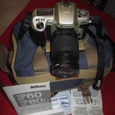 Cámara de fotos: CAMARA DE FOTOS NIKON F 60 OBJETIVO 28 80MM CON BOLSA. Lote 202361936