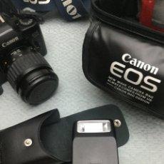 Cámara de fotos: CÁMARA DE FOTOS CANON EOS-1000, RÉFLEX, FLASH, MUY POCO USO. Lote 204144796