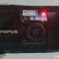"""Cámara de fotos: OLYMPUS U [MJU:]-1 AF 35 MM. 1:3.5 + MANUAL + FUNDA RÍGIDA """"PARA COLECCIONISTAS"""". Lote 215740350"""