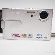 Cámara de fotos: CAMARA DIGITAL SAMSUMG DIGIMAX I6 CON BATERIA, SD 1GB Y FUNDA LOWEPRO. Lote 235819110