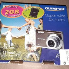 Cámara de fotos: OLYMPUS FE-5035,14 MEGAPIXEL,COMPLETA,EN SU CAJA.. Lote 236773495