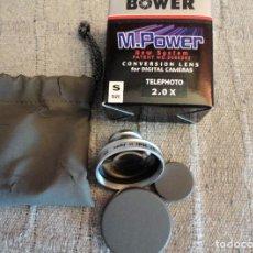 Cámara de fotos: OBJETIVO BOWER TELE MAGNETICO PARA COMPACTAS DIGITALES. Lote 244941995
