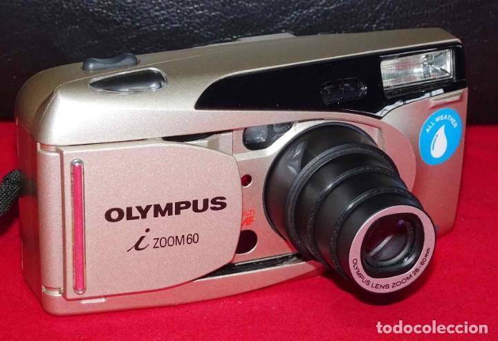 CÁMARA OLYMPUS I ZOOM 60, DE APS, FUNCIONANDO (Cámaras Fotográficas - Panorámicas y Compactas)