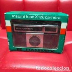 Cámara de fotos: ANTIGUA CÁMARA FOTOGRÁFICA HANIMEX X-126. 1970. SIN USO .EN SU CAJA Y PLÁSTICO ORIGINAL. Lote 287964298