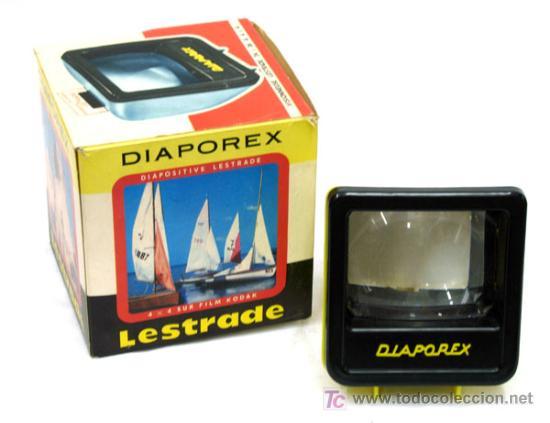 VISOR PARA DIAPOSITIVAS DIAPOREX LESTRADE AÑOS 70 (Cámaras Fotográficas - Visores Estereoscópicos)