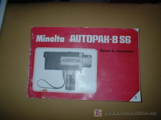 MANUAL DE INSTRUCIONES DE MINOLTA (Cámaras Fotográficas - Catálogos, Manuales y Publicidad)