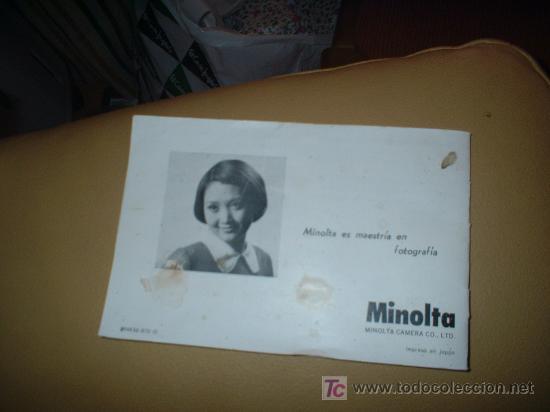 Cámara de fotos: manual de instruciones de minolta - Foto 2 - 26378297