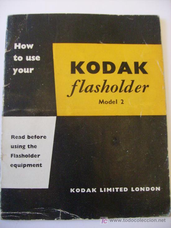 GUIA KODAK PARA FLASH NUM 2, EN INGLES (KODAK FLASHHOLDER NUM2) , ANOS 50 APROX (Cámaras Fotográficas - Catálogos, Manuales y Publicidad)