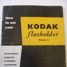Cámara de fotos: GUIA KODAK PARA FLASH NUM 2, EN INGLES (KODAK FLASHHOLDER NUM2) , ANOS 50 APROX. Lote 22266277