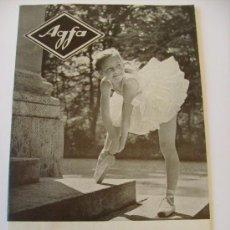 Cámara de fotos: CATALOGO AGFA EN INGLES: CAMERAS Y PHOTOGRAPHIC EQUIPMENT (19 PAG, 1955). Lote 22266278