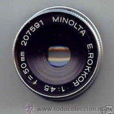 Cámara de fotos: MINOLTA PARA AMPLIADORA ROKKOR, CROMADO, 1:4,5 F=50 MM.. Lote 27032902