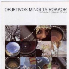 Cámara de fotos: PRECIOSO CATÁLOGO - POSTER DE LOS OBJETIVOS MINOLTA ROKKOR - 1979?. Lote 25533582