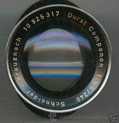 PARA AMPLIADORA, OBJETIVO DURST 5,6 Y F=240 MM (Cámaras Fotográficas - Otras)