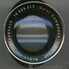 Cámara de fotos: PARA AMPLIADORA, OBJETIVO DURST 5,6 Y F=240 MM. Lote 27441454