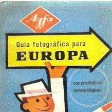 Cámara de fotos: AGFA : GUÍA FOTOGRÁFICA PARA EUROPA / AGFA, 1960 / ILUSTRADA.. Lote 18371853