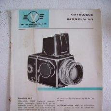 Cámara de fotos: CATALOGO DE CAMARA HASSELBLAD 500C, EN FRANCES , AÑOS 60 APROX. Lote 27470174