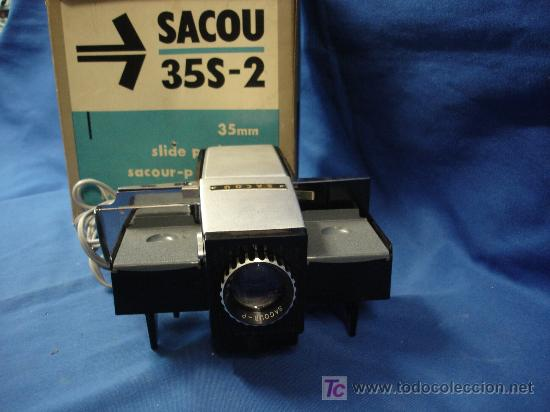 ANTIGUO PROYECTOR 35 MM SACOU 35S-2 - COLECCIONISTAS (Cámaras Fotográficas - Visores Estereoscópicos)