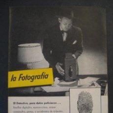 Cámara de fotos: ANTIGUA PUBLICIDAD ANUNCIO KODAK DE LOS AÑOS 50.. Lote 16847599