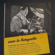 Cámara de fotos: ANTIGUA PUBLICIDAD ANUNCIO KODAK DE LOS AÑOS 50.. Lote 16847609