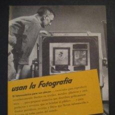 Cámara de fotos: ANTIGUA PUBLICIDAD ANUNCIO KODAK DE LOS AÑOS 50.. Lote 16847807