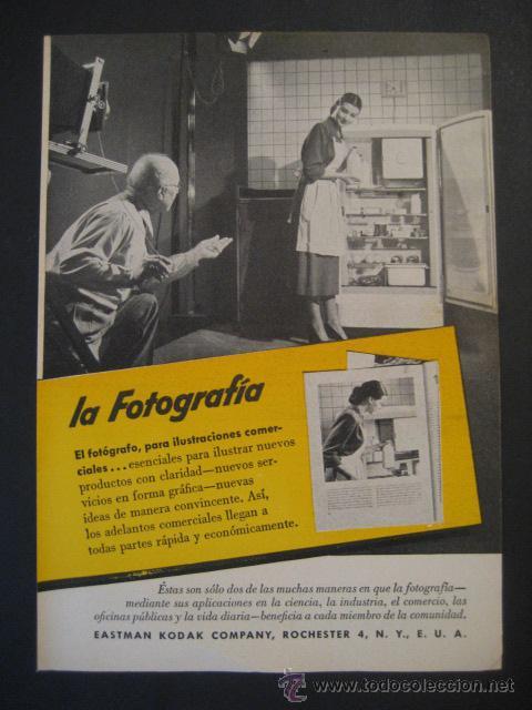 ANTIGUA PUBLICIDAD ANUNCIO KODAK DE LOS AÑOS 50. (Cámaras Fotográficas - Catálogos, Manuales y Publicidad)