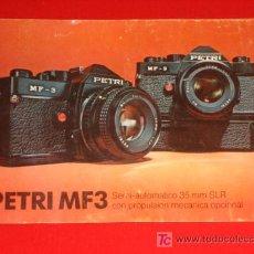 Cámara de fotos: CATALOGO CAMARA DE FOTOS -- PETRI MF3 -- SEMI-AUTOMATICA 35 M.M. SLR. Lote 26424272
