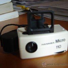 Cámara de fotos: CÁMARA FOTOGRÁFICA HANIMEX MICRO 110. Lote 26223865