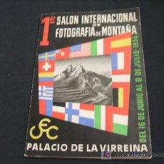 Cámara de fotos: PRIMER SALON INTERNACIONAL DE FOTOGRAFIA DE MONTAÑA - 1.956 - PALACIO DE LA VIRREINA - . Lote 27017451