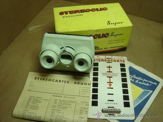 VISOR ESTEREOSCOPICO 3D - STEREOCLIC SUPER + CAJA + VISTAS STEREOCARTE + INDICE (Cámaras Fotográficas - Visores Estereoscópicos)