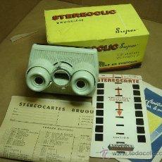 Cámara de fotos: VISOR ESTEREOSCOPICO 3D - STEREOCLIC SUPER + CAJA + VISTAS STEREOCARTE + INDICE. Lote 26337425