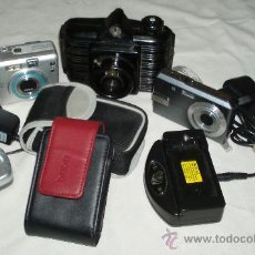 Cámara de fotos: LOTE 3 CAMARAS CON CARGADORES Y FUNDAS. Lote 26187035